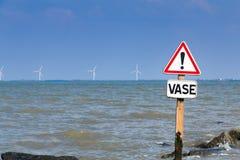 panneaux d'avertissement de l'inondation Photographie stock libre de droits