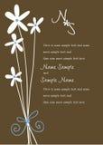 Panneaux d'invitation de mariage Image libre de droits