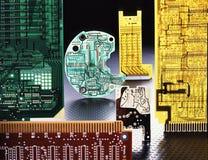 Panneaux d'ordinateur Images stock