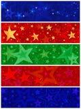 Panneaux de grunge de forme d'étoile Image libre de droits