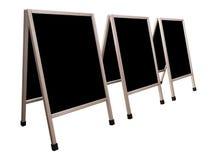 Panneaux de menu d'isolement Image stock