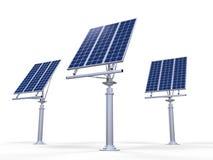 Panneaux de pile solaire Photographie stock libre de droits