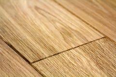 Panneaux de plancher en bois brun clair naturels de parquet Texture jaune douce ensoleillée, fond de perspective de l'espace de c images libres de droits