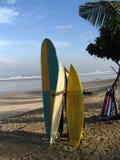 Panneaux de vague déferlante dans Bali Images stock