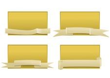 Panneaux de vecteur avec des bandes Images libres de droits