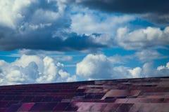 Panneaux des batteries solaires Images libres de droits