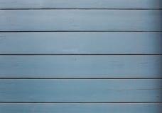 Panneaux en bois bleus Image stock