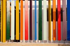 Panneaux en bois colorés, planches en bois colorées photo libre de droits
