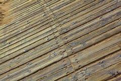 Panneaux en bois de Brown Texture en bois Photographie stock