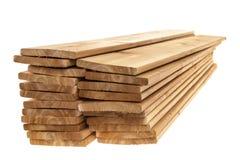 Panneaux en bois de cèdre empilés image stock