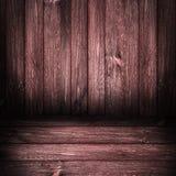 Panneaux en bois de fond rouges Image stock