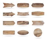 Panneaux en bois de signe de vecteur Images stock