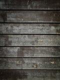 Panneaux en bois grunges noirs photographie stock
