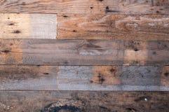 Panneaux en bois horizontaux Image stock