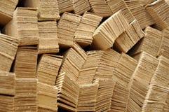 Panneaux en bois plats Photo stock