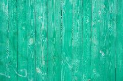 Panneaux en bois verts photographie stock libre de droits