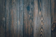 Panneaux horizontaux bleu-fonc? en bois de vintage Front View Fond pour la conception photos libres de droits