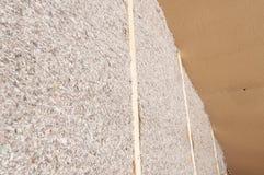 Panneaux isolants de fibre de bois Images stock