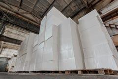 Panneaux isolants de polystyrène photographie stock