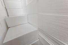Panneaux isolants de polystyrène photographie stock libre de droits