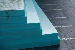 Panneaux isolants de polystyrène de XPS Images stock