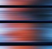 Panneaux métalliques carrés avec l'abstraction légère bleue rouge Photo stock