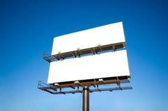 Panneaux-réclame blanc Photos libres de droits