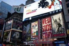 Panneaux-réclame de Times Square Photos stock