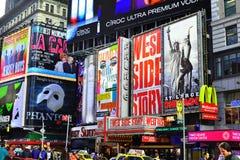 Panneaux-réclame de Times Square Image libre de droits