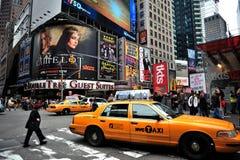 Panneaux-réclame de Times Square Image stock