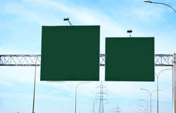 Panneaux-réclame vides Image libre de droits