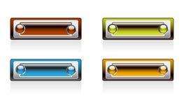 Panneaux rectangulaires de couleur lumineuse Photographie stock libre de droits