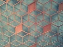 Panneaux rouges de fer sur le mur de ciment Images stock