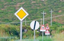 Panneaux routiers Image libre de droits
