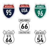 Panneaux routiers aux Etats-Unis photo stock