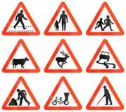 Panneaux routiers d'avertissement au Bangladesh Image libre de droits
