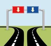 Panneaux routiers de concept de décision Image libre de droits