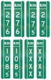 Panneaux routiers de guide au Québec - Canada illustration libre de droits