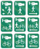 Panneaux routiers de guide au Québec - Canada Photographie stock