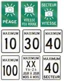 Panneaux routiers de guide au Québec - Canada Photos libres de droits