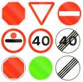 Panneaux routiers de réglementation au Bangladesh Photo libre de droits