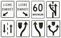 Panneaux routiers de réglementation au Québec - Canada Image stock