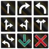 Panneaux routiers de réglementation au Québec - Canada Images libres de droits