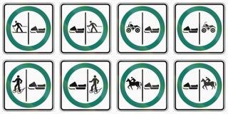 Panneaux routiers de réglementation au Québec - Canada Photo stock