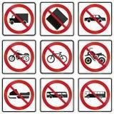 Panneaux routiers de réglementation au Québec - Canada Photo libre de droits