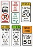 Panneaux routiers de réglementation des Etats-Unis MUTCD Photographie stock