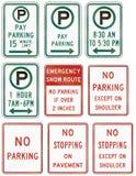 Panneaux routiers de réglementation des Etats-Unis MUTCD Photo libre de droits