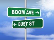 Panneaux routiers de rue de buste d'avenue de boom Image stock