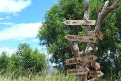 Panneaux routiers en Dali Erhai Lake Image libre de droits
