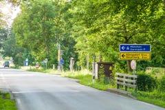 Panneaux routiers en direction de Munich Image stock